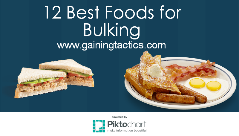 12 Best Foods For Bulking Gaining Tactics