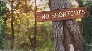 no shortcuts for a healthy body
